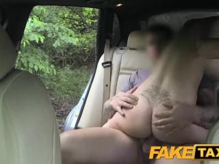 FakeTaxi Big tits and great curvy body sucks dick
