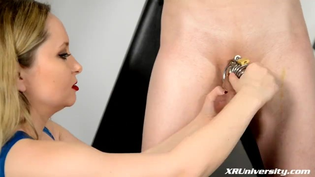 Wimp dick Male chastity with jay wimp