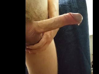 Edging with precum and ruined orgasms with huge load
