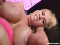 Screaming Blonde Takes BBC In Ass