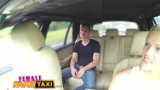 Preview 4 of FemaleFakeTaxi Busty blonde rides studs cock