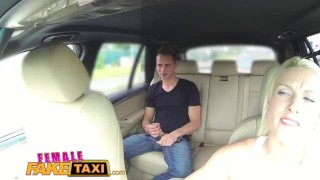 Preview 5 of FemaleFakeTaxi Busty blonde rides studs cock