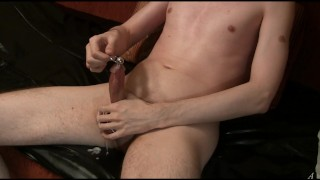 The second urethral stimulation, sounding Tranny trans