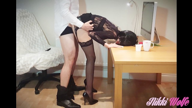Sexy secretary lingerie - Incredibly hot and slutty secretary you can only dream would work for you