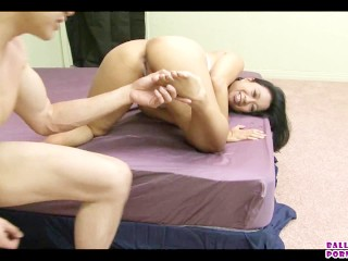 Asian marriage counseling ballbusting 3some with lucky starr...