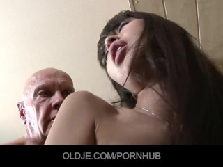 Cute Asian student gets an A for old teacher fuck and cum swallow