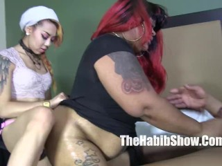 Bbw ms giggles banged by lil asian and...