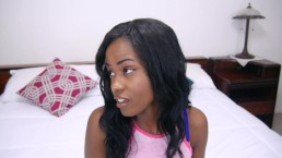 Jezabel Vessir - Double-D Black Beauty Blows Bubbles With Cum!