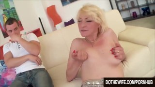 Mature milf Adriana Love rides a dick porno