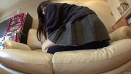 Subtitled Japanese schoolgirl drops panties to fart in HD