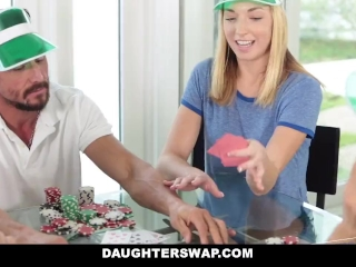 DaughterSwap - Learning How To Play Poker & Fuck