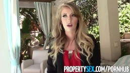 PropertySex - Unboxing video turns into sex with hot ass real estate agent