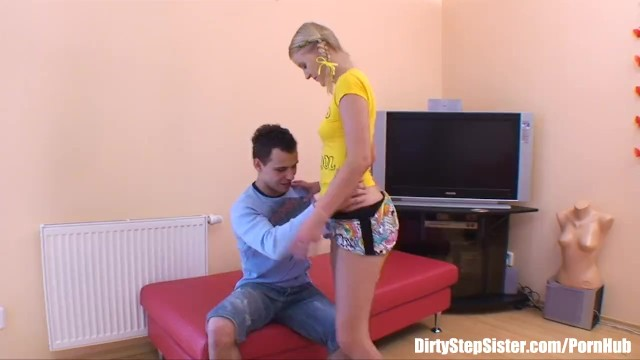 Russian Blonde Stepsister Couch Fucked By Stepbro 17