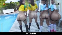 BFFS - Joueuses de Foot Torrides Baisées Par L'Etraîneur