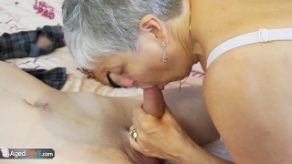 Old lady Savana fucked by student Sam Bourne by AgedLove Lil cream
