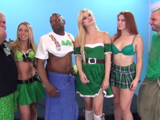 AJ Applegate hosts an Orgy with Phat Ass Friends Rose Red Tyrell & Charlyse
