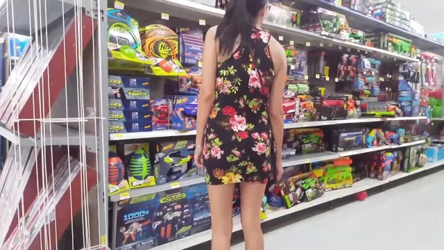 Walmart Flashing In A Mini Dress - Upskirt - Lydia Luxy -1985