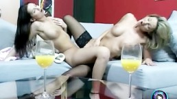 Dazzling lesbian actions featuring Caroline Cage and Eve Angel
