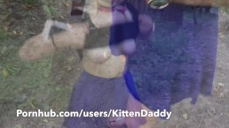 Teen Walks Around Park Flashing With No Panties On - KittenDaddy