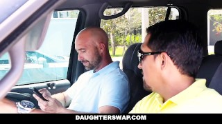 DaughterSwap - sneaky daughters get blindfolded and fucked by dads Young big
