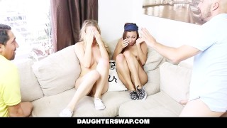 Daughterswap daughters sneaky and fucked blindfolded by get dads latina father