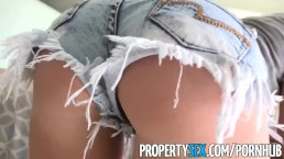 PropertySex - Horny blonde cheats on her boyfriend with real estate agent