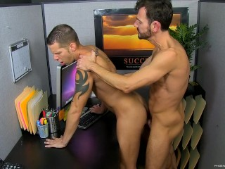 Bryan Slater gets caught masturbating at the office by Shane Frost