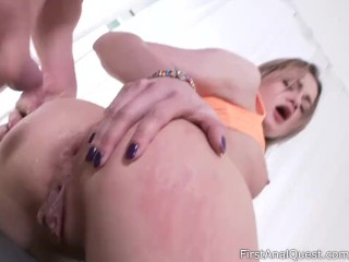 Sweet blonde Olivia Jameson coming back for more anal sex