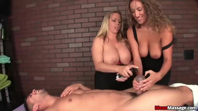 Two ladies giving sex to man Two bossy ladies tag-team a poor man