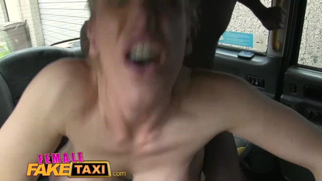 Real boobs v fake Femalefaketaxi busty blonde creampied by criminal after blowjob