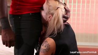 Leya Falcon gets a hardcore fucking from Mandingo porno