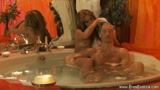 Using a Hot Oil For Your Huge Cock porno