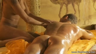 Using a Hot Oil For Your Huge Cock Big mommy