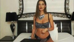 Ultra Hot Shemale in an Awesome Striptease and Masturbation