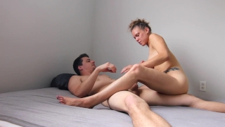 Homemade Rough Anal With Rubber On, GF Riding On Cock Gaping Asshole HiDef! Facefuck young