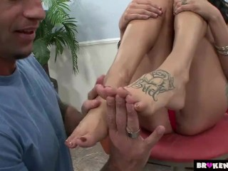 BrokenTeens - Licking Her Feet and Fucking Her Slit