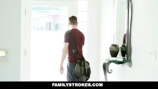 FamilyStrokes - MILF Step Mom Fucks Son German natural