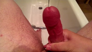 Morning in shower orgasm the wanking pov