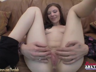 Amateur girl jamie fucked pov couch at brandnewamateurs...
