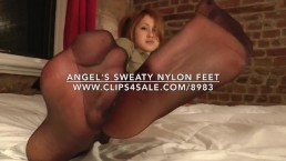 Angel's Sweaty Nylon Feet - www.c4s.com/8983/16008028