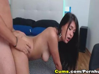 Preview 6 of Sexy Brunette Babe Sucks Cock and Got Fucked Hard