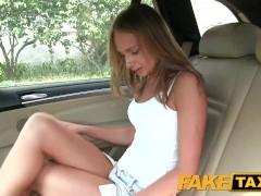 FakeTaxi Hot blonde in tight denim shorts