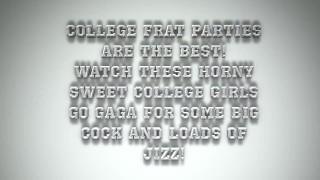drunk college girls get crazy on cock! porno