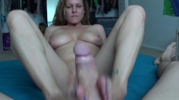 Ashley's First Footjob Video Ever, Jerking Me Off With Her Feet Licking Cum