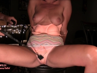 Pussy spanked MiLF soaks her panties: REAL EXTREME SQUIRTING