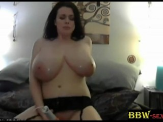 Tasty BBW Lilith with massive DD boobs maturbation BBW-SEXYcom