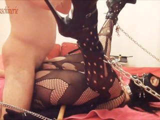 Chained slave slut fuck part 2 - Screaming cumming POV