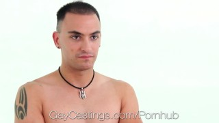 GayCastings - Amateur Tyson Pierce fucked on camera for the first time
