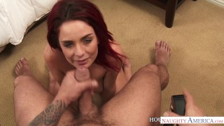 Hot housewife Ashlee Graham sucks and fuck your big dick - Naughty America Lingerie posing