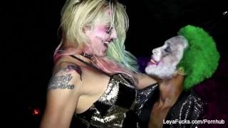 Joker's quinn takes bbc the leya harley leyafucks cock